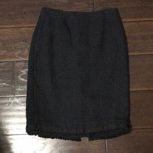J. Crew Black Tweed Pencil Skirt sz 4